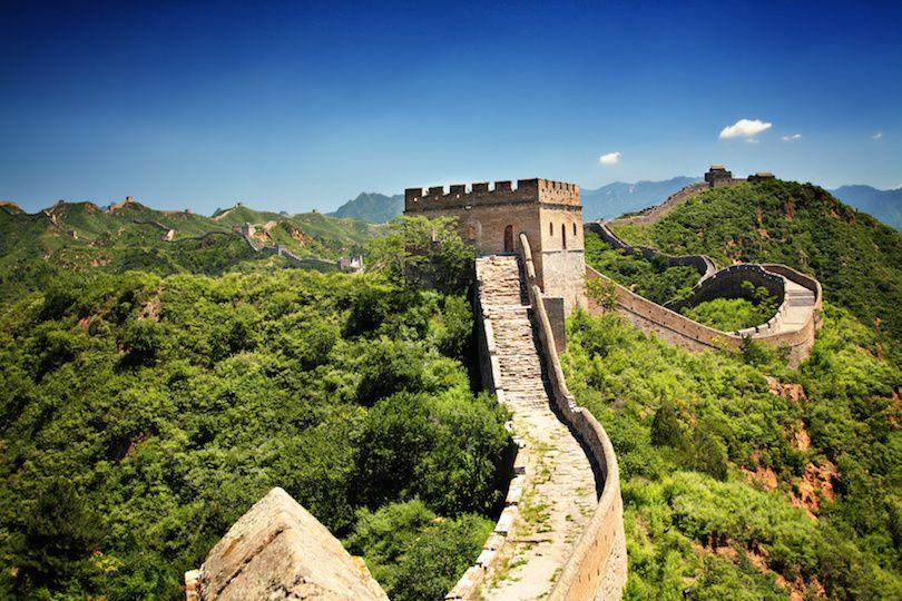 The Great Wall of China near Jinshanling