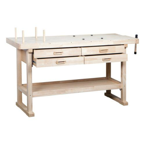 60 Hardwood Workbench With 4 Drawers Windsor Design Http Www Amazon Com Dp B005u4w09u Ref Cm Sw R Pi Dp Sx Jtb0bx Muebles Rusticos Muebles Bancos De Trabajo