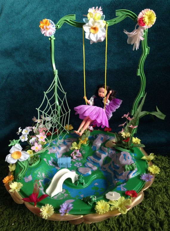 Vintage Hornby Flower Fairies 1983 SECRET GARDEN Playset