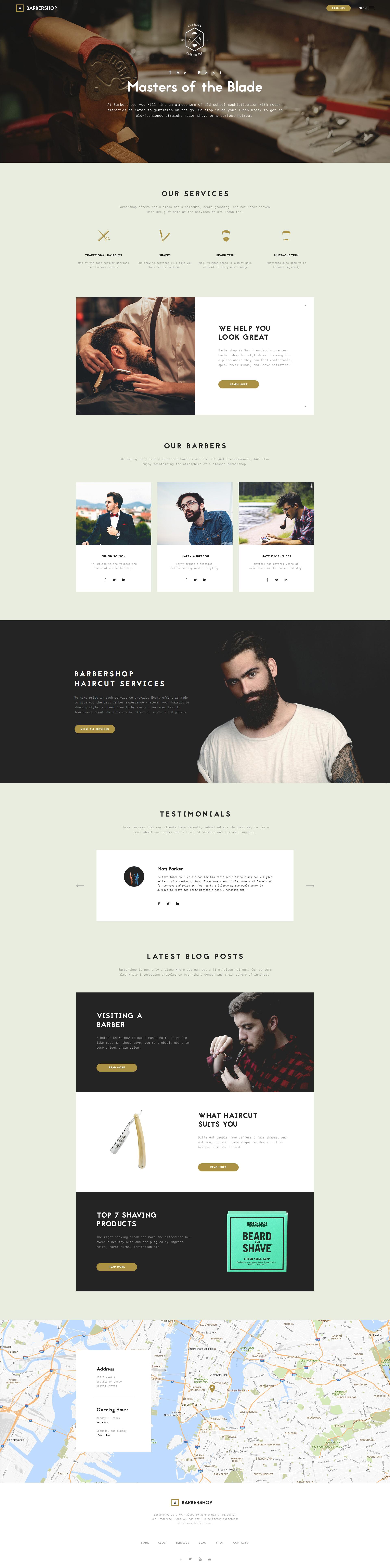 Barbershop Hair Care Hair Styling Website Template Website Template Joomla Templates Salon Website