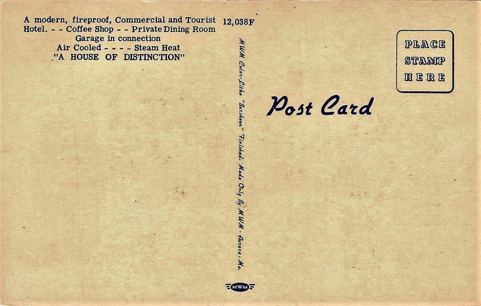 H2679 Murfreesboro Tn Linen Postcard Polk Hotel Ebay Hotel