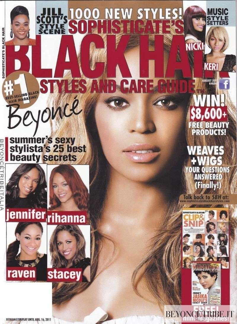 Beyonce Copertina Scans Sophisticates Black Hair Magazine Agosto