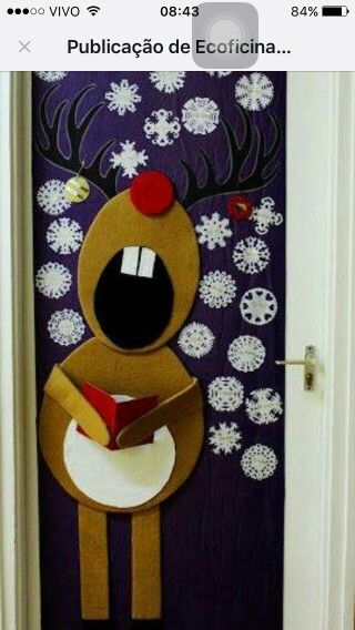 Pin de gpeese celsius en cosas que ponerse pinterest for Puertas decoradas de navidad para preescolar