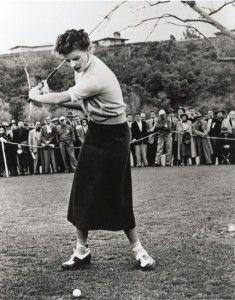 Katharine Hepburn in Pat and Mike. Vintage athletic wear at it's best!