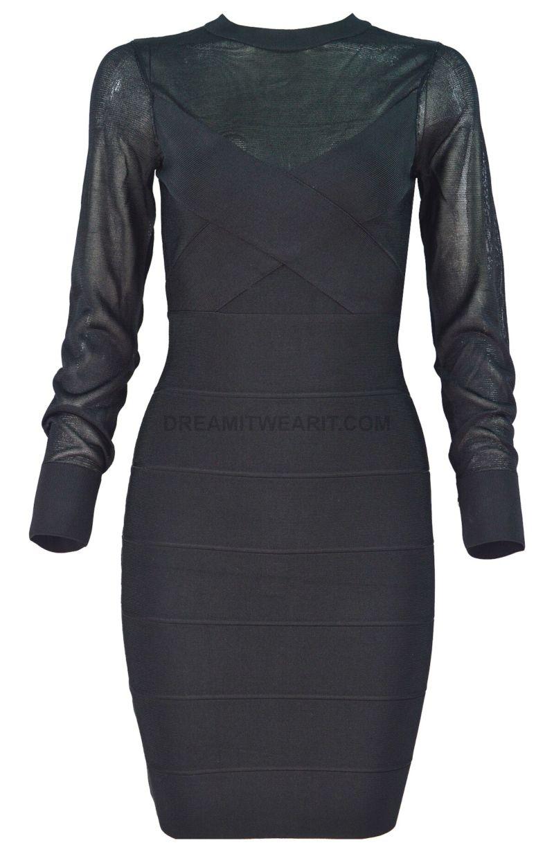 Mesh Sleeve Dress Black Free Express Shipping Worldwide Mesh Sleeved Dress Black Dress Mesh Sleeves [ 1233 x 800 Pixel ]