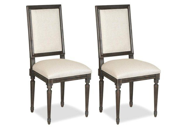Beige Ventura Side Chair, Pair