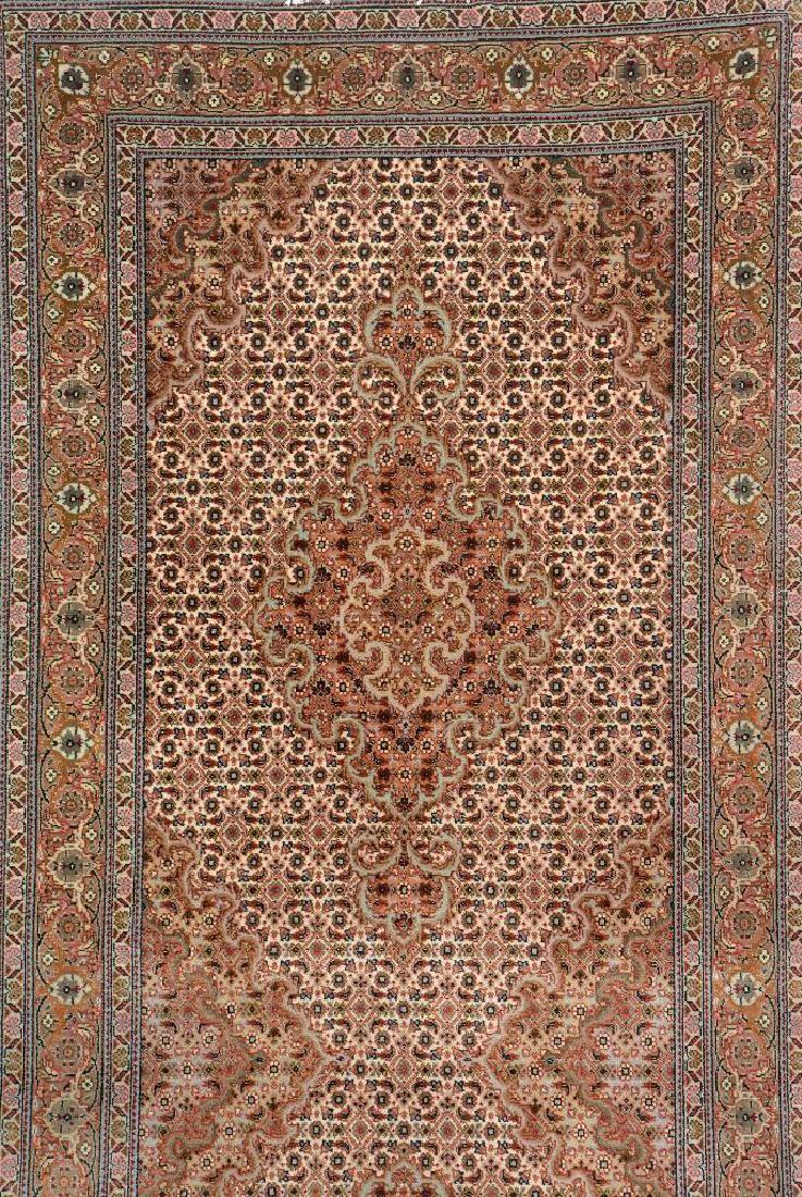 Part Silk Tabriz Runner 50 Raj Persia Circa 30 Years Old Wool Cotton Rox 407 X 85 Cm
