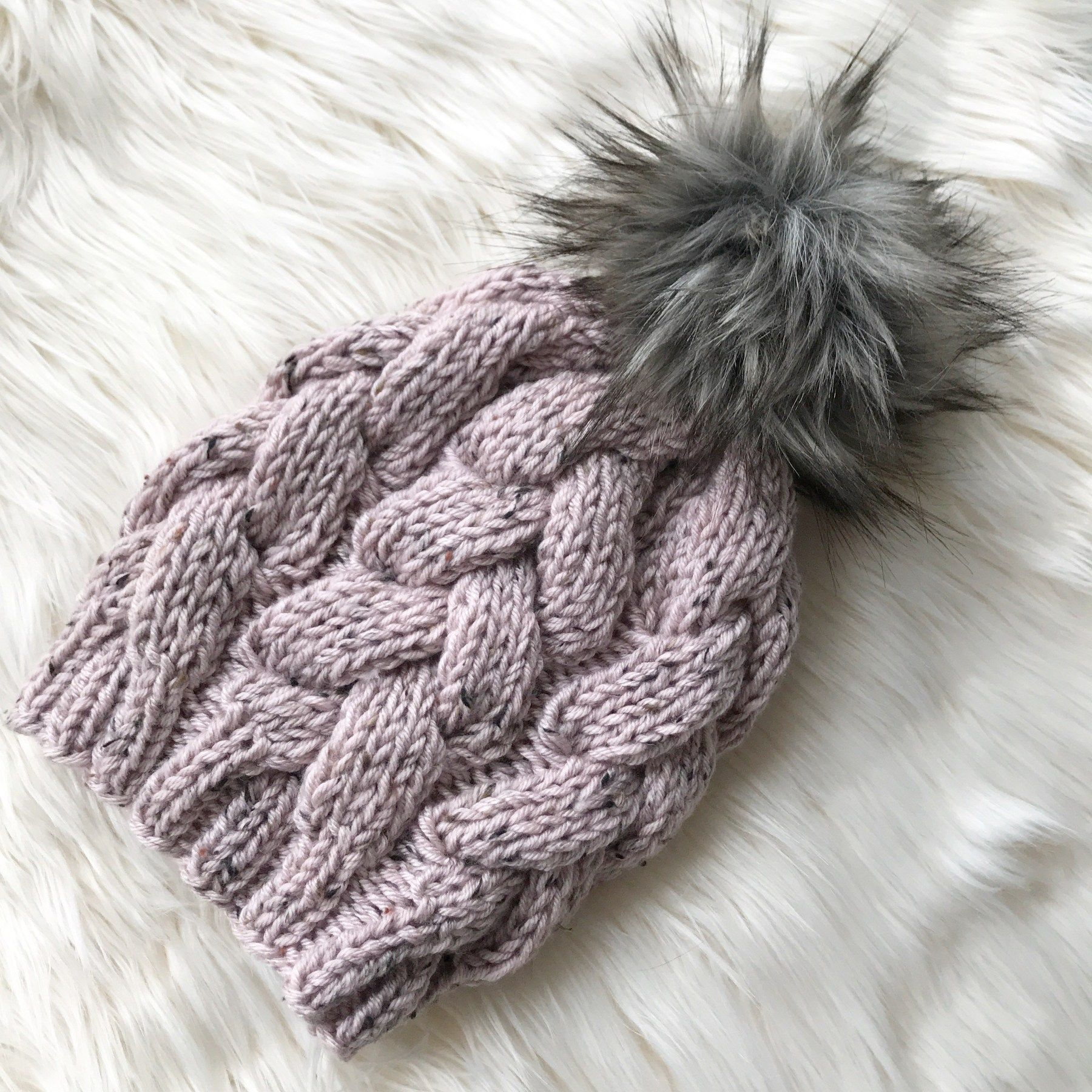 Chunky Braided Beanie | Cable knit hat pattern, Beanie ...
