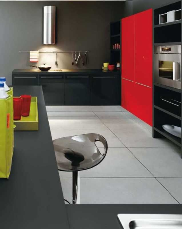 Red Colour Combinations Of Houses  Google Search  Red And Orange Adorable Kitchen Design Red And Black Inspiration Design