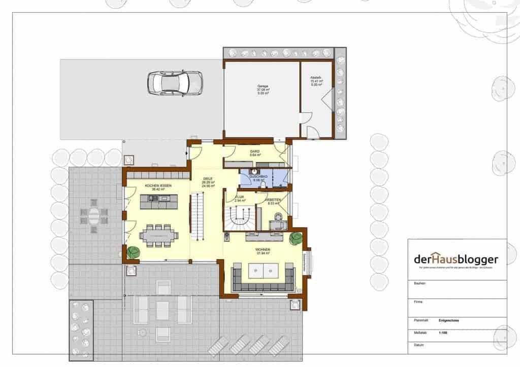 Flachdachhaus 245m² Flachdachhaus, Haus und Moderne