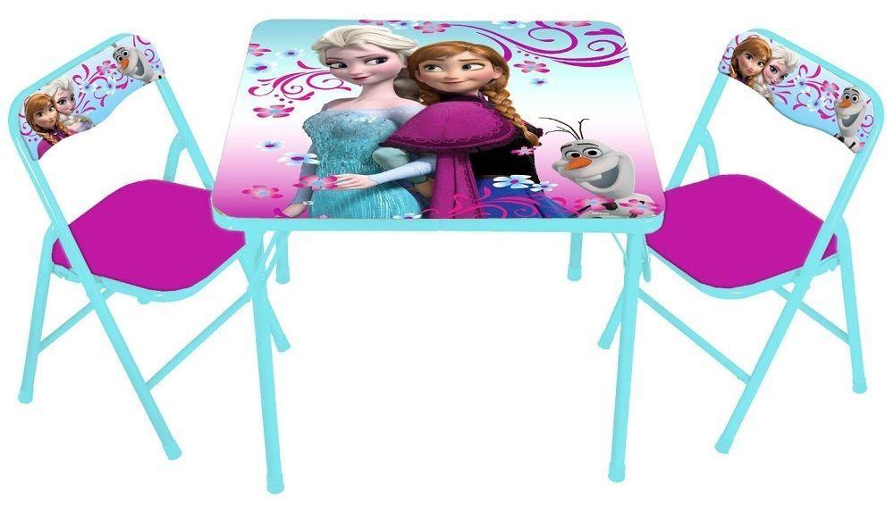 Kids Table Set Disney Frozen Chair Activity Play Girls Desk Furniture Children Kidstableset Disney Frozen Bedroom Kids Table And Chairs Kids Table Set