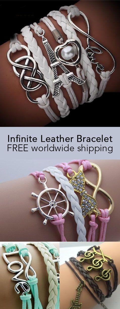 Infinite Leather Bracelet