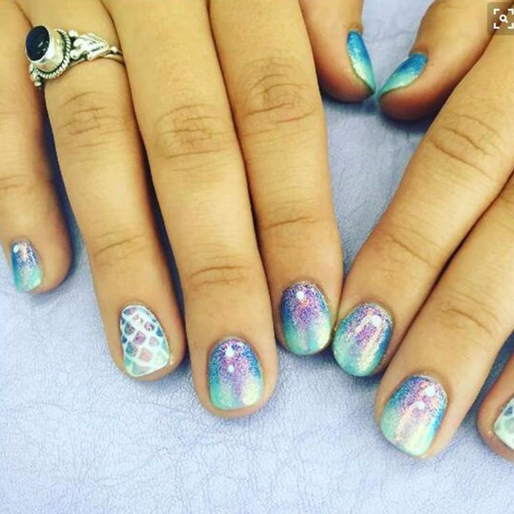 1g Holographic Mermaid Nail Glitter Powder Shimmer Glitter Pigment ...
