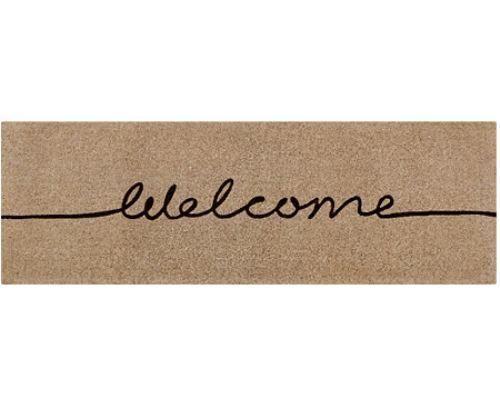 034 Welcome 034 Long Mat Modern Design 100 Coir Doormat Door Mat Natural Mushroom Door Mat Front Door Mats Front Door Entryway