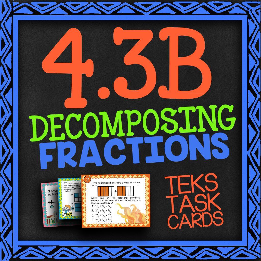 Math Tek 4 3b Decomposing Fractions 4th Grade Math