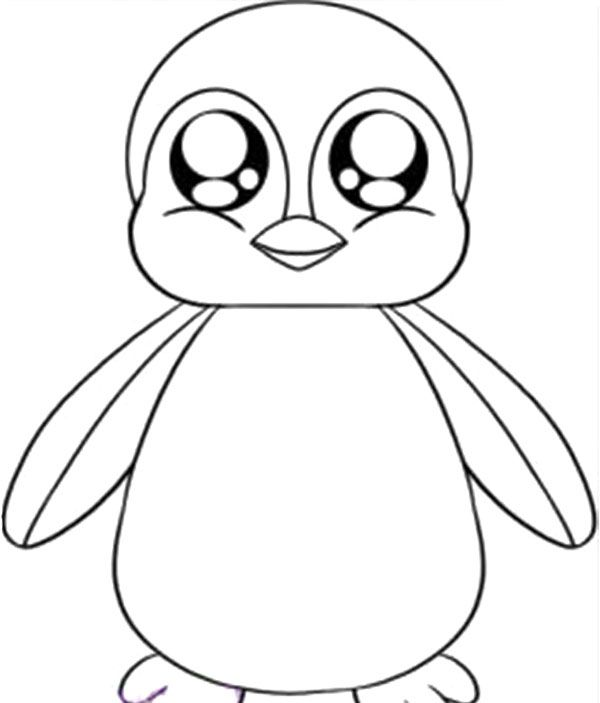 Baby Penguin Coloring Page Easy Animal Drawings Baby Animal Drawings Cute Coloring Pages