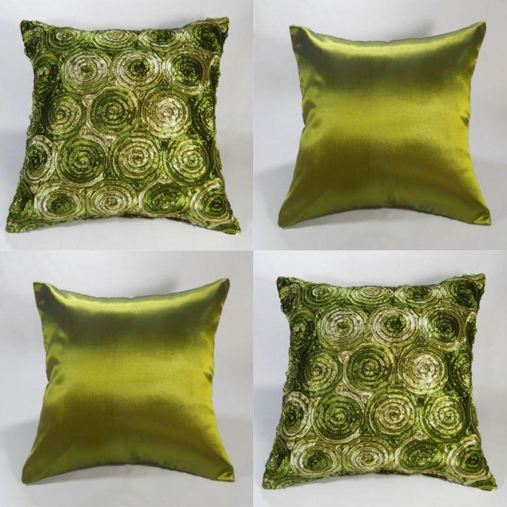 green throw pillows