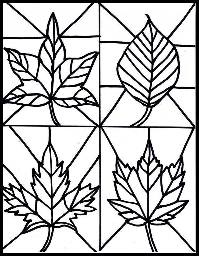 Make It Easy Crafts Kid 39 S Craft Stained Glass Leaves Free