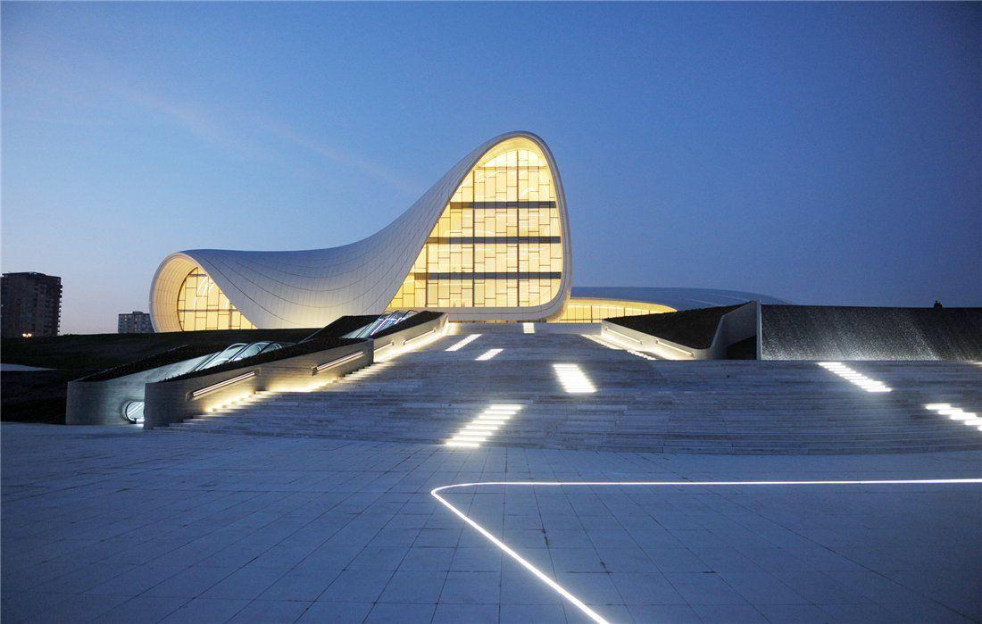 Zaha Hadid, Stairs, Heydar Aliyev Cultural Centre, Baku