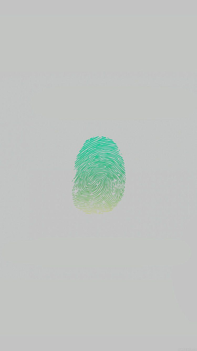 af86-finger-print-unlock-green-art-illust-minimal ...
