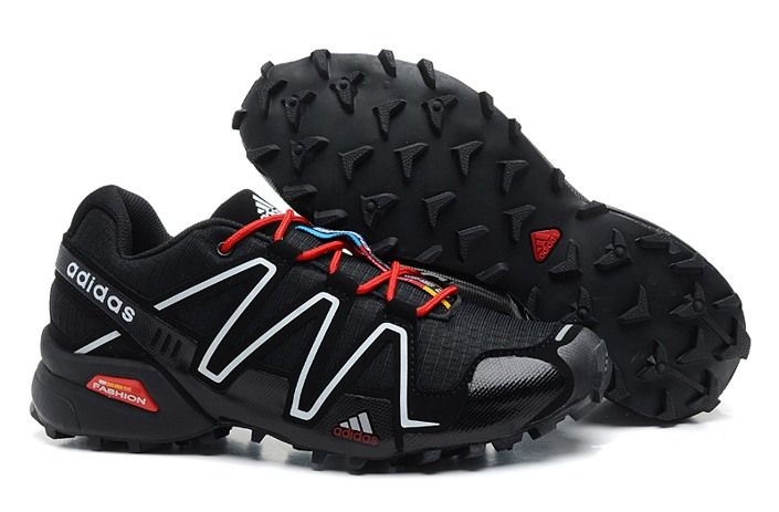 Salomon Mens Speedcross 3 Women's Trail Running Shoes ShoeBlackBlackSilver  MetallicX 40 M DM US -- More info could be found at the image url.
