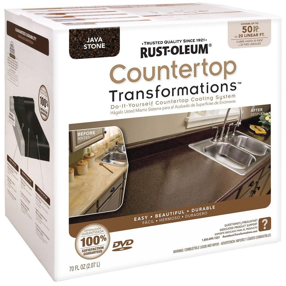 Rust Oleum Transformations 70 Oz Charcoal Large Countertop Kit