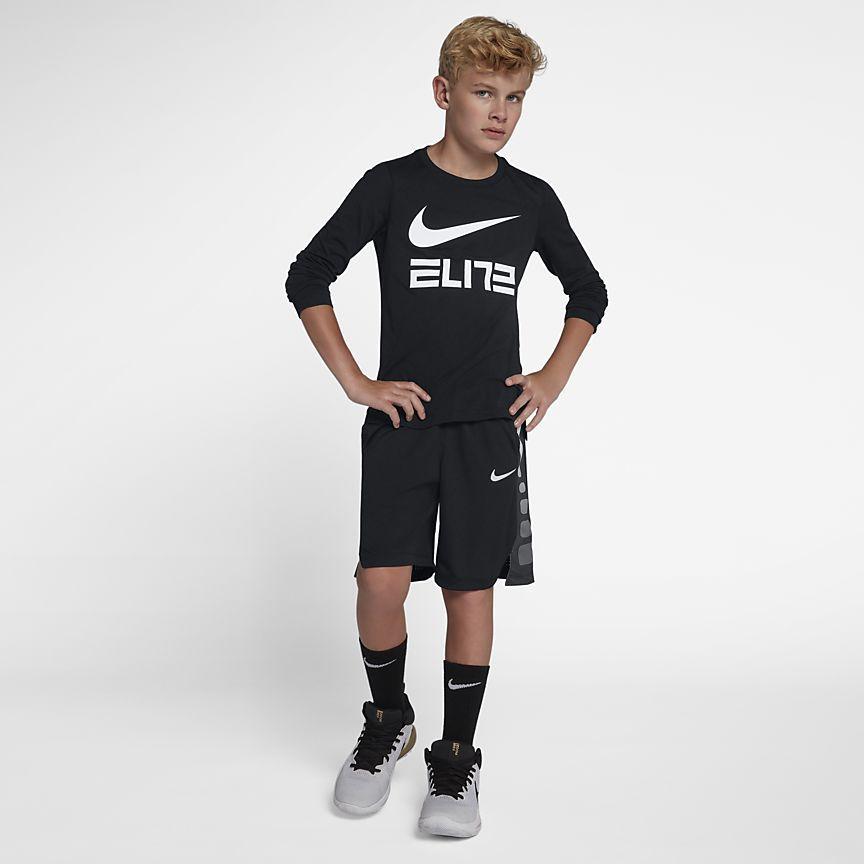 fe58b2d408 Dri-FIT Elite Big Kids' (Boys') Long Sleeve Basketball Top | Kids ...