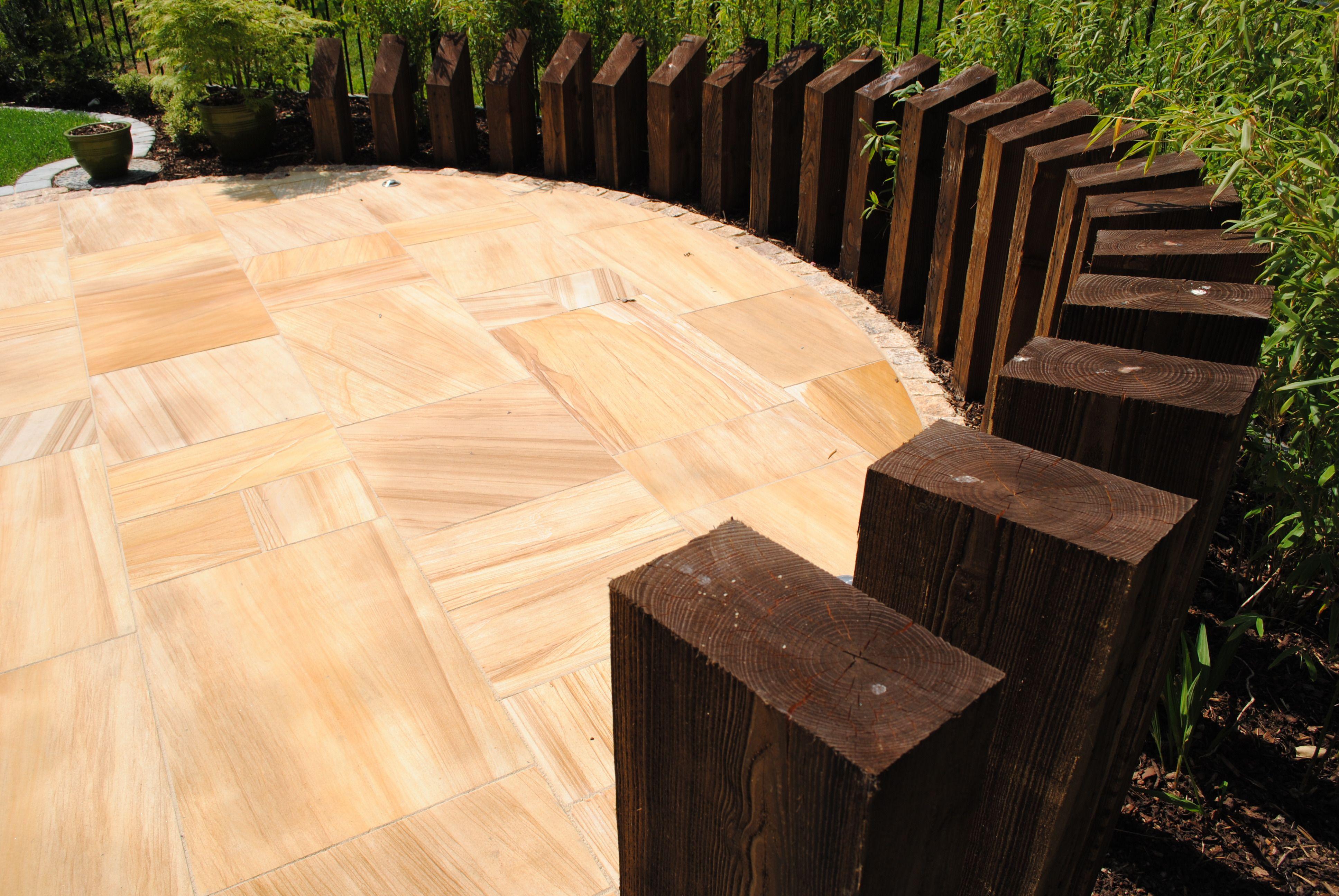 Sculptural sleeper wall. | Garden structure | Pinterest | Sleeper ...