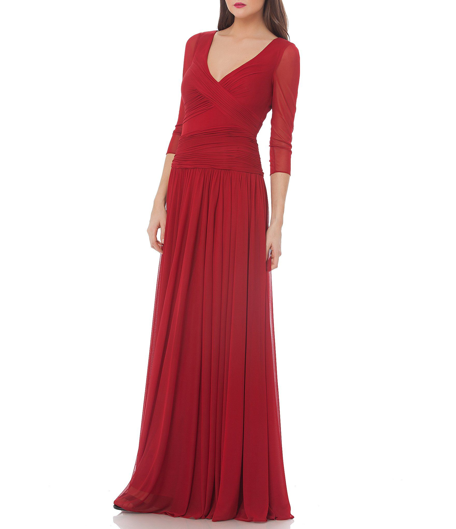 JS Collections Surplice Matte Jersey Gown | Dillards, Gowns and ...