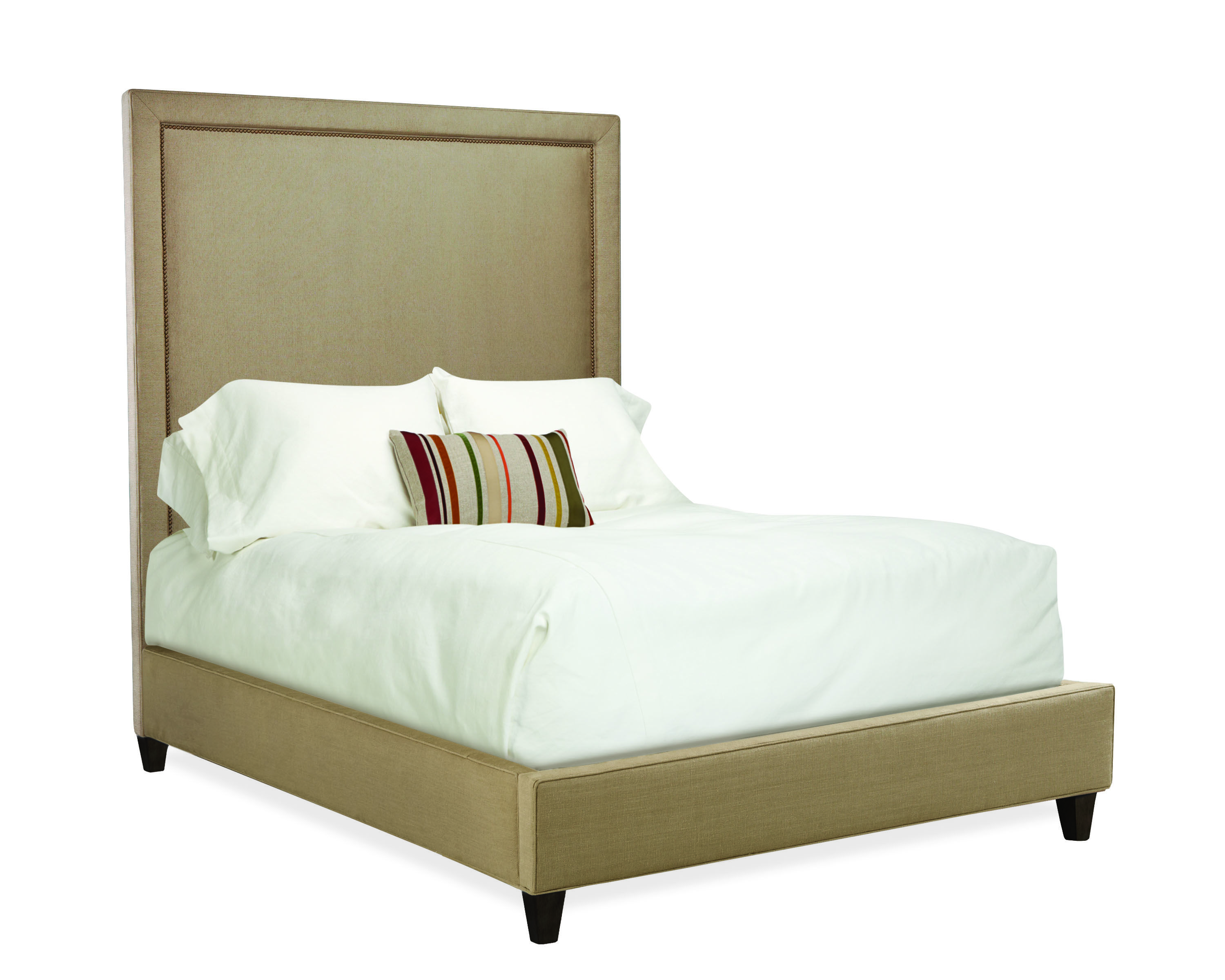 Lee Industries Square Headboard With Rails And Nail Head
