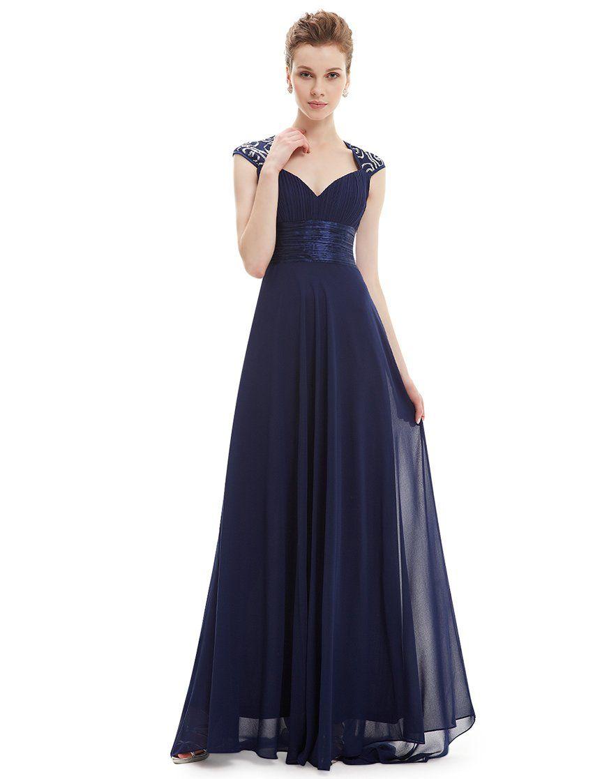 Ever Pretty Womens Empire Waist Chiffon Black Tie Formal Evening ...