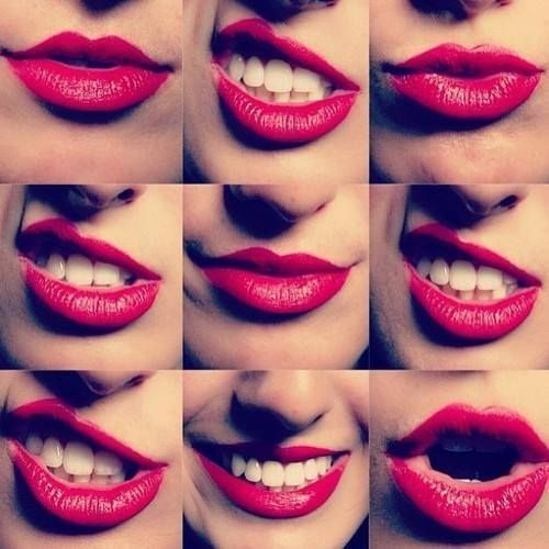 All about the lips for a girl.