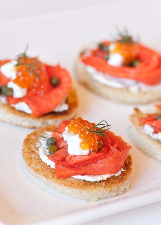 Caviar Smoked Salmon Canapes Recipe Tatyanas Everyday Food Recipe Salmon Canapes Smoked Salmon Canapes Tatyana S Everyday Food