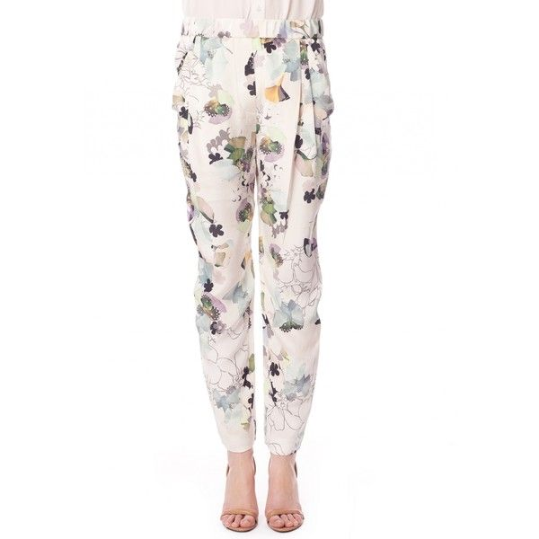 3.1 Phillip Lim Floral print trousers ($505) ❤ liked on Polyvore