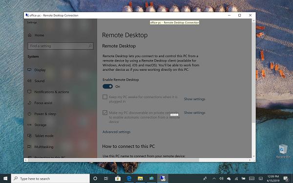 Windows 10 Remote Desktop in Windows Home Windows