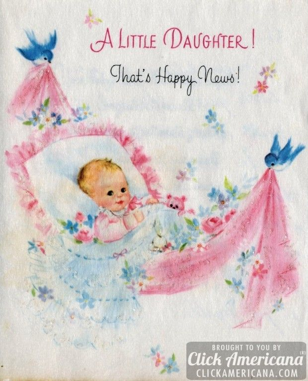Congrats On Your Baby Girl Vintage Cards From 1969 Places To