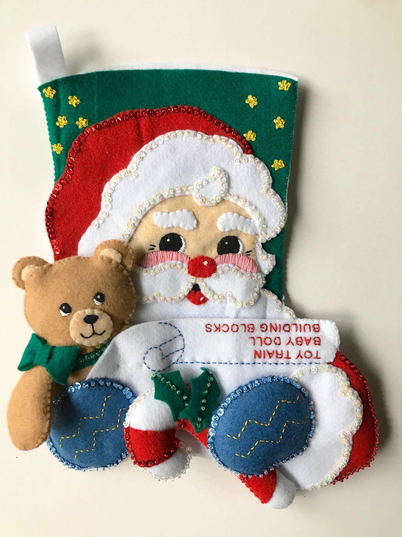 Bucilla Santa /& Teddy Felt /& Sequin Kit