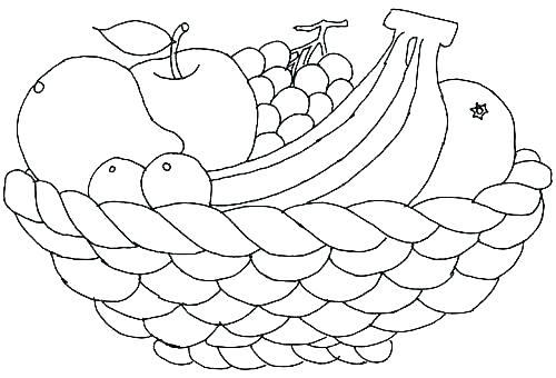 Fruit Coloring Pages A Bowl Of Fruit Coloring Page Trail Of Colors Fruit Colouring Pages For Toddlers Riscos Para Pintura Caixa De Croche Pinturas De Ursos