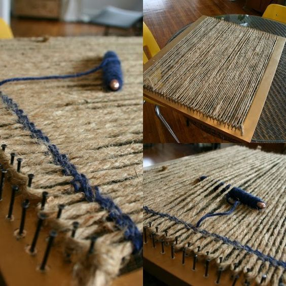 How to build a loom from a picture frame arts and crafts how to build a loom from a picture frame fandeluxe Images