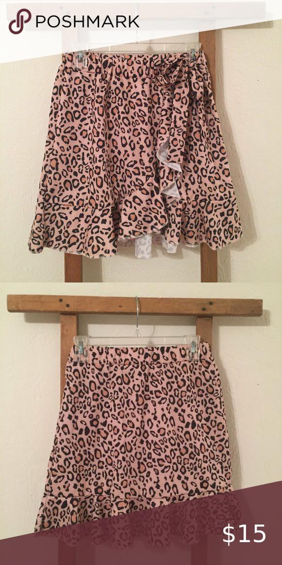 Mini cheetah print skirt