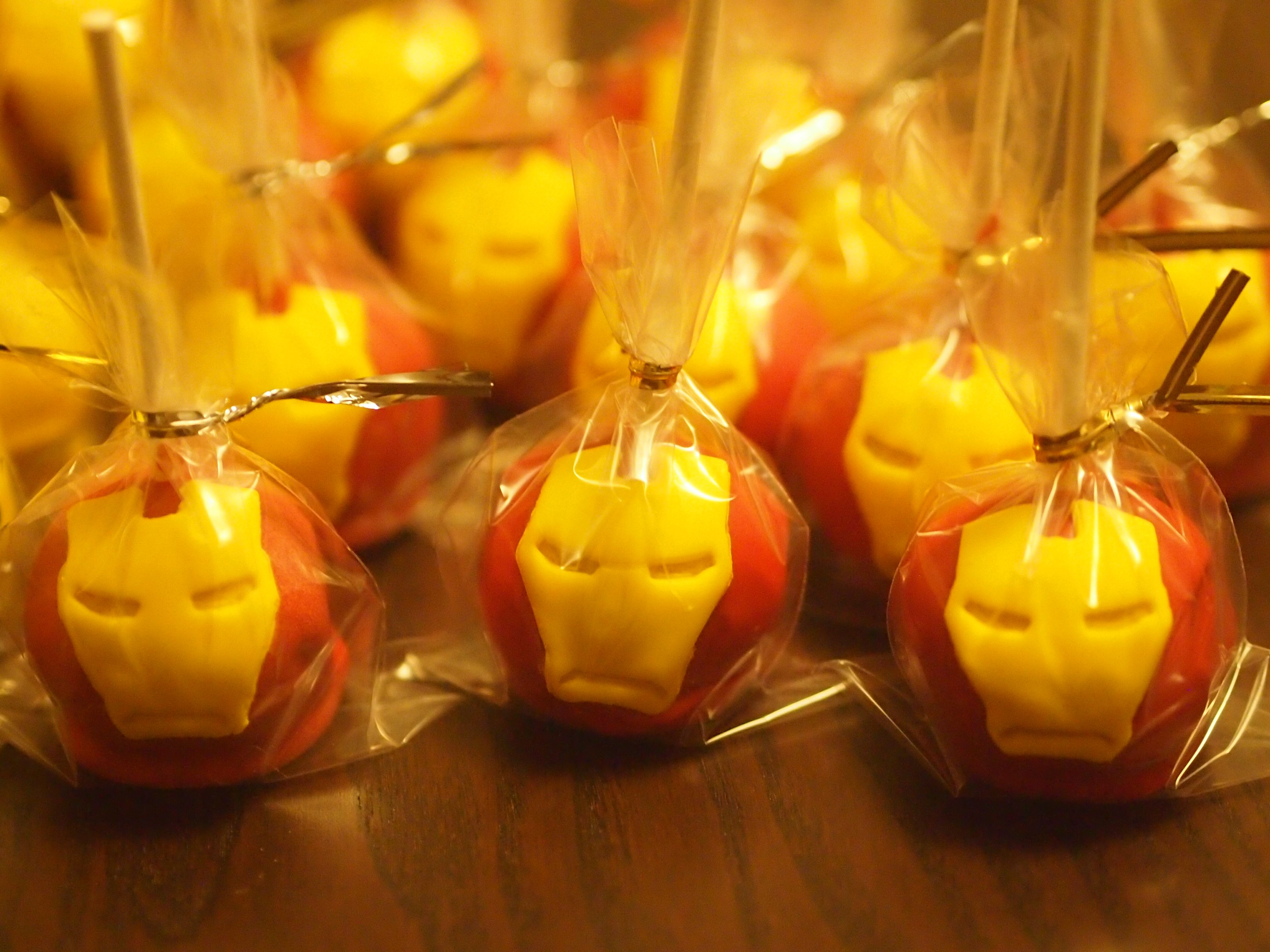 Ironman cake pops ironman cakepops superhero birthday