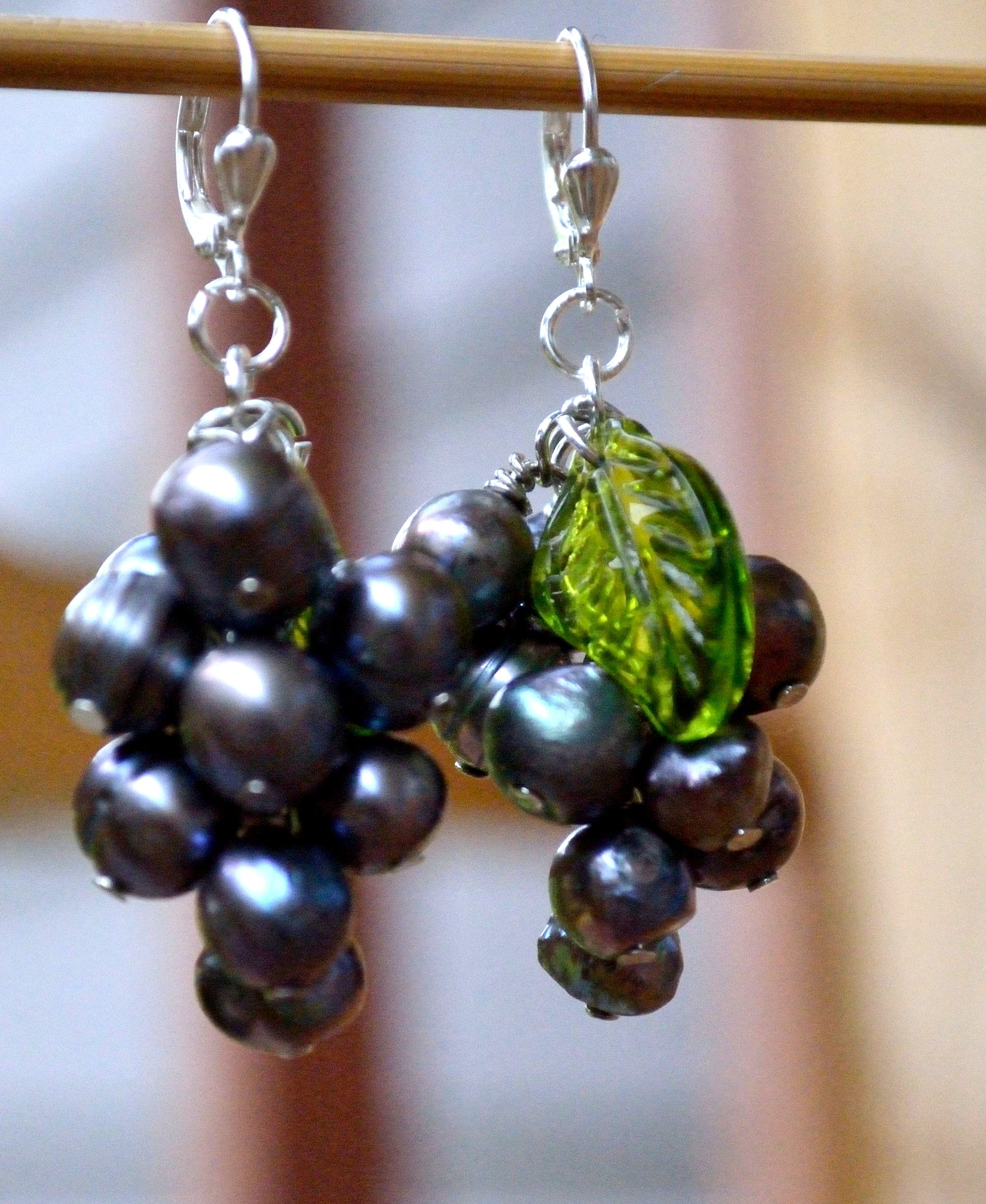 tutorial: grape cluster earrings | cluster earrings, tutorials and