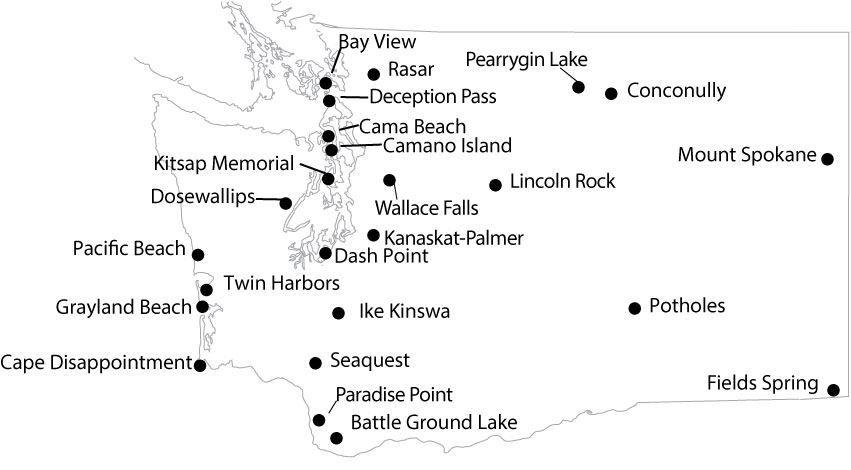 Wa State Yurtsandcabinsmap216 Destination Pnw Pinterest: Wa State Campgrounds Map At Codeve.org