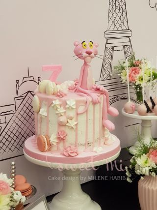 Pink Panther Pink Panther Cake Pink Panthers Birthday Cake Kids
