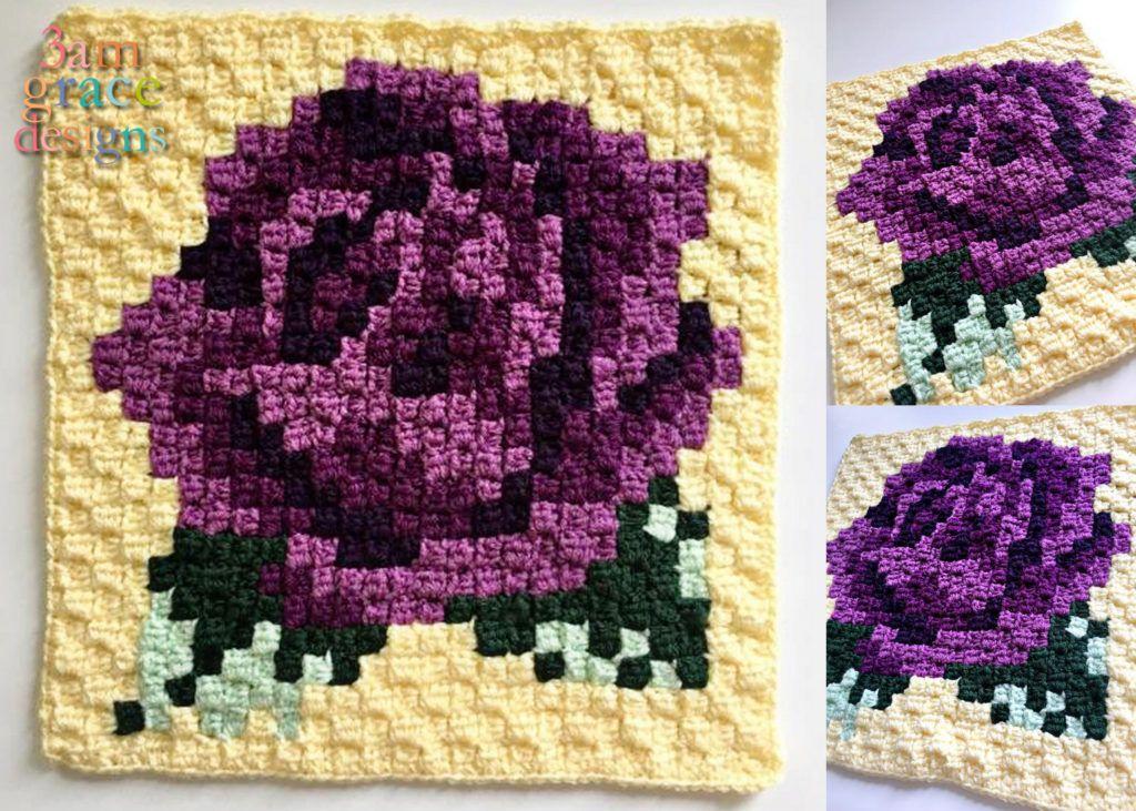 Nature Blanket C2C CAL - Week 3 | Flores tejidas, Esquina y Colchas