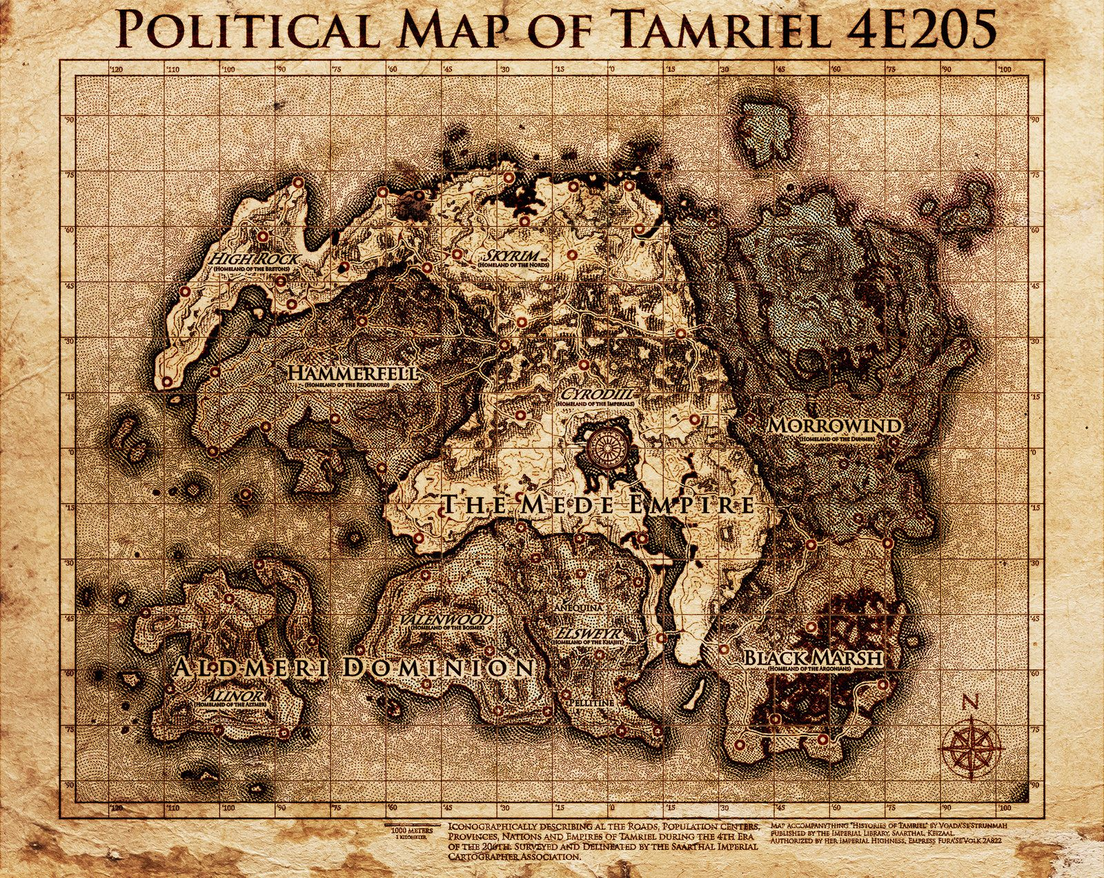 Elder Scrolls: Politcial Map Tamriel by DovahFahliil map cartography ...