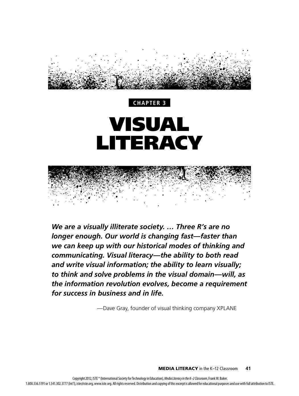 Book Chapter Excerpt Explores Visual Literacy Inquiry