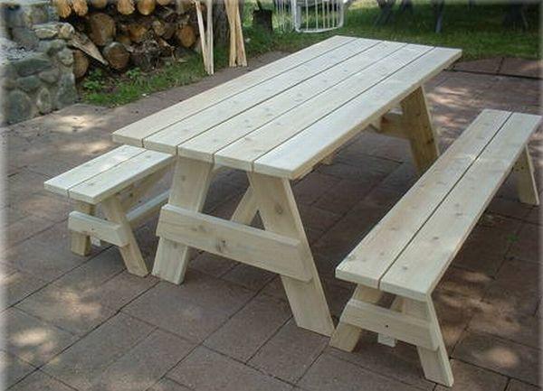 Beautiful wooden picnic tables Hometone Indoor Picnic