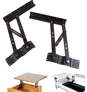 Lift Up Modern Coffee Table Mechanism Hardware Fitting Furniture Hinge  Spring With Mounting Screws