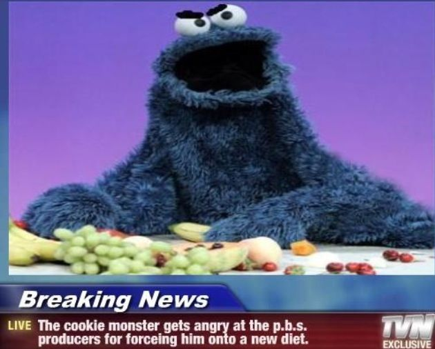 Angry Cookie Monster Monster Cookies Character Monster
